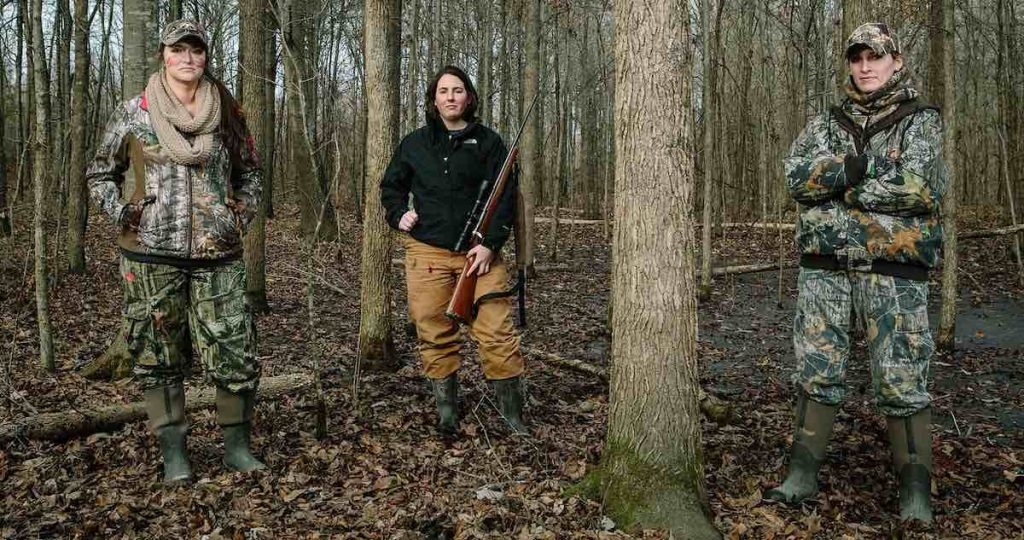 Picture of women hunters in the forest